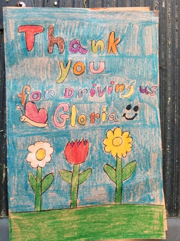 A heart felt Thank You note - Thank you from Gloria