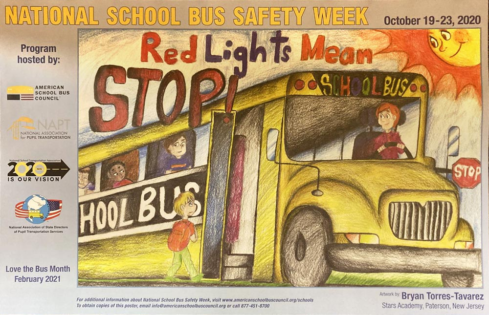 Poster National School Bus Safety Week